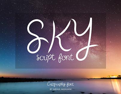 Sky Script Font