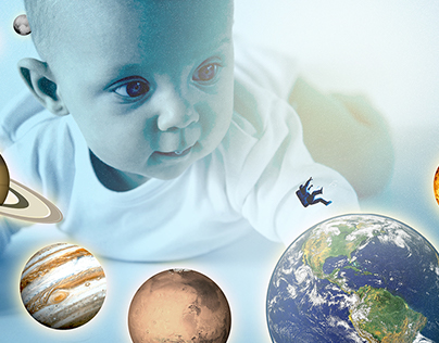 Baby with Universe