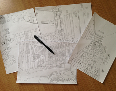Croquis e desenhos
