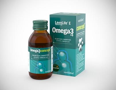 LeenLife Omega3 3D Packshot
