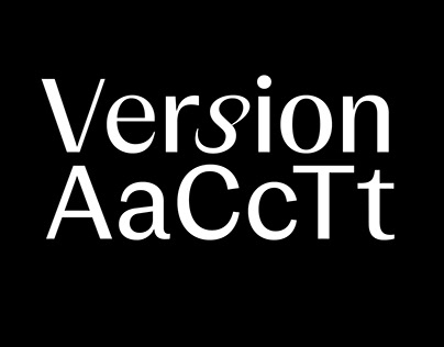 Version ACT Typeface
