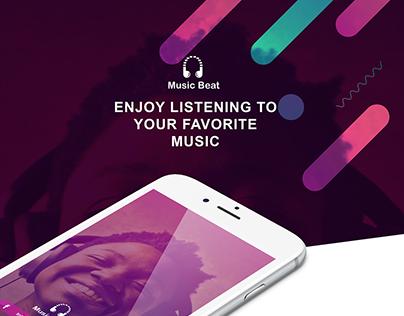 Music Beat mobile app. UI