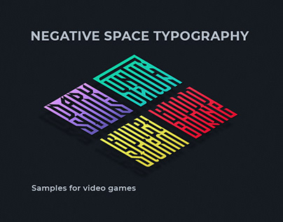 Negative space typography