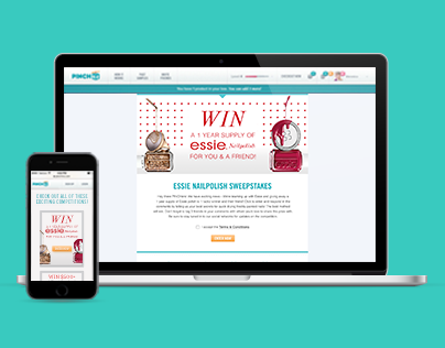 PINCHme Sweepstakes Page
