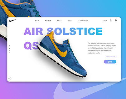 Nike - Landing Page - Daily UI #003