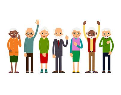 Older people | Flat Illustration