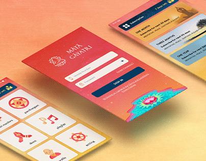 Spiritual Mobile App Design