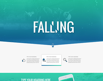 FALLING CREATIVE LANDING PAGE