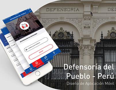 Defensoria del Pueblo Aplicación Android - iOS