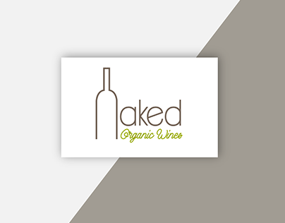 Logo and inspiration board Naked Organic Wines
