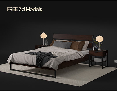 Free 3d models Ikea bed TRYSIL