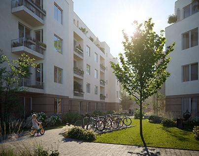 CGI: Residential buildings in Berlin, Germany