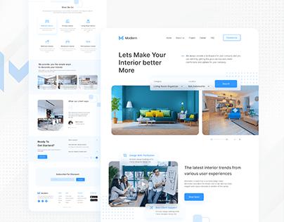 Interior Website UI design