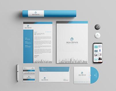 minimal logo, business card, letterhead, brand identity