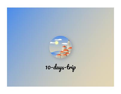 10-days-trip | Interaction web design