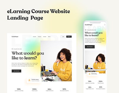 eLarning Course Website Landing Page