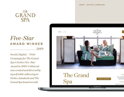 The Grand Spa - Forbes Five-Star Award Campaign