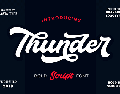FREE Thunder Font