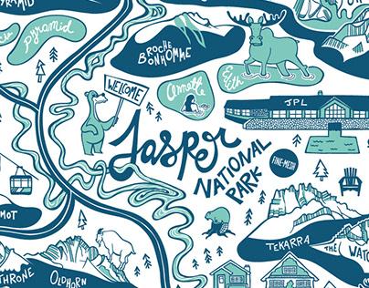 Jasper Illustrated Map