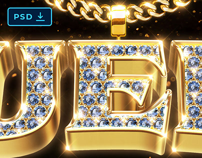 Bling Bling Text and Logo Style [PSD]