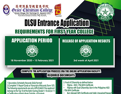 College Application Information POster