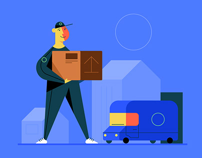 Vector Delivery Character Design Illustration