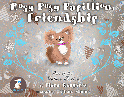 """Illustrations for """"Rosy Posy Papillion""""."""
