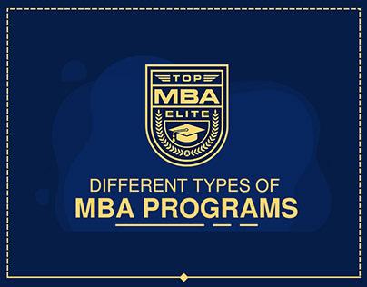 Top MBA Programs InfoGraphic Design