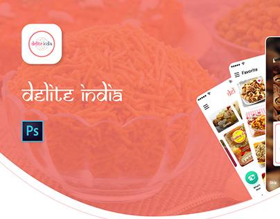 Delite India : Premium Foods UI UX Design