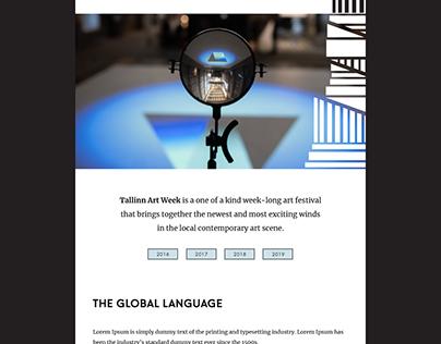 Tallinn Art Week: Website Design