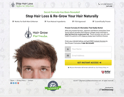 Squeeze Page for Hair Care Provider