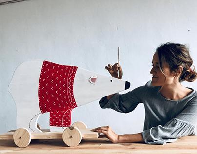 Big Bears - Pull Toys for La Fábrica