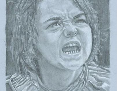 Arya Stark de la série Game of Thrones