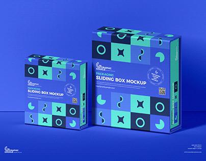 Free Sliding Box Mockup