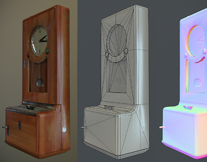 Time recorder - Low Poly