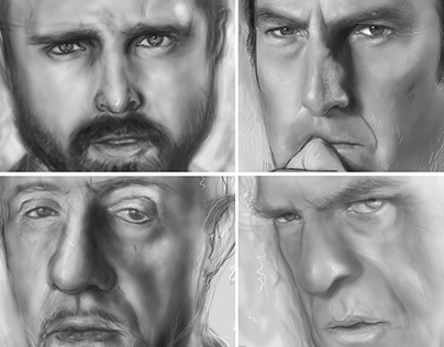 Digital Portraits - Breaking Bad