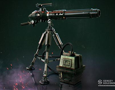 Mark-II medium repeating blaster cannon