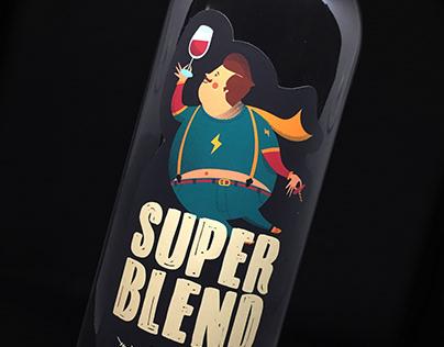 Etiqueta de vino / Super Blend