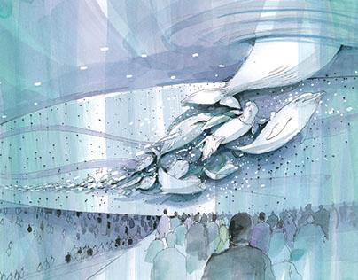 Sketching for a aquarium and zoo of Aquaplanet in Korea