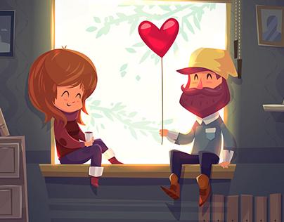 Happy Valentine Day (Vector Illustrations)