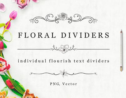 FREE Flourish Text Dividers + Florals