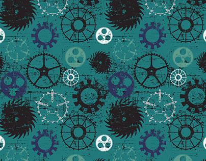 Steampunk Gears Surface Pattern