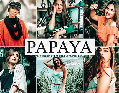Free Papaya Mobile & Desktop Lightroom Preset