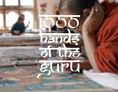 1000 Hands of the Guru | Typo and poster design