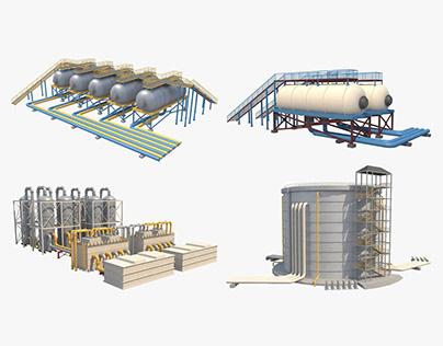 Industrial Silos Set_1