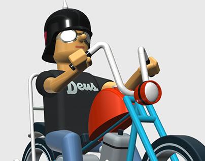"""Stay True""- 3D motor cycle print"