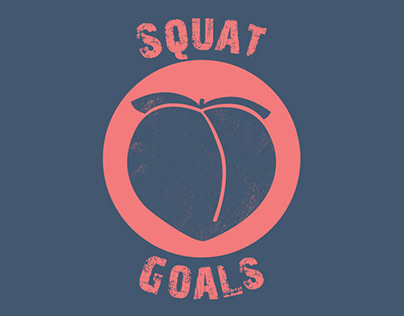 Squat Goals - Logo design for my Spartan Race team