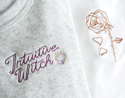 'Not Very Lady Like' designs for embroidery