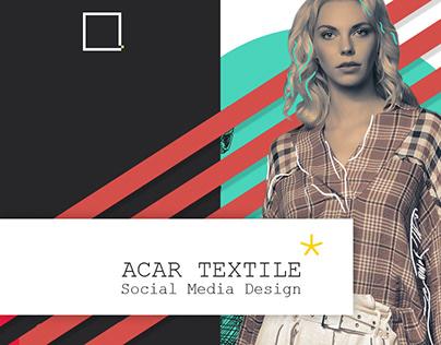 Acar Textile Social Media Design