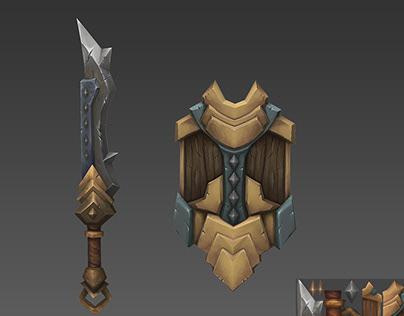 3D HandPainted Swords